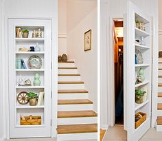 How to build a shelf (in a door)  - Better Homes and Gardens - This would be great for the hall closet to make the most of space and still be cute