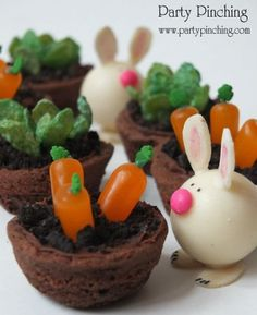 More Cute Food - Party Planning - Party Ideas - Cute Food - Holiday Ideas -Tablescapes - Special Occasions And Events - Party Pinching Pound Cakes, Holiday Ideas, Parties Pinch, Food, Parties Ideas, Mini Gardens, Easter Bunny, Easter Treats, Party Ideas