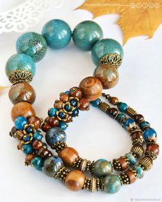 Jewelry Sets, Bohemian Jewelry, Beaded Jewelry, Jewelry Necklaces, Handmade Jewelry, Beaded Necklace, Beaded Bracelets, Jad, Wire Jewelry Making