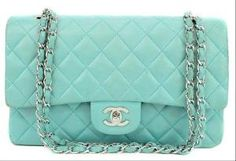 Vintage Mint Green Chanel Bag. I'm in love.