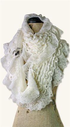Super Soft Victorian Cobweb Lace Infinity Fashion Scarf