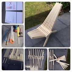 TuinStoel / Garden Chair [Dutch] #furniture #woodworking #patio #outdoors