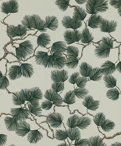 Pine by Sandberg - Green - Wallpaper : Wallpaper Direct Interior Wallpaper, Green Wallpaper, Flower Wallpaper, Wall Wallpaper, Pattern Wallpaper, Botanical Wallpaper, Adhesive Wallpaper, Forest Wallpaper, Inspirational Wallpapers