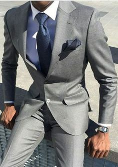 20 Trendy Ideas For Wedding Suits Men Grey Casual Menswear Best Suits For Men, Cool Suits, Outfits Casual, Mode Outfits, Mens Fashion Suits, Mens Suits, Fashion Menswear, Mode Masculine, Terno Slim Fit