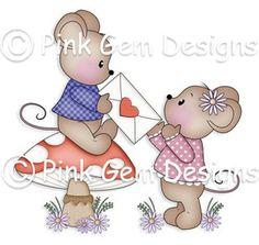 Digi Stamp Valentine Mice