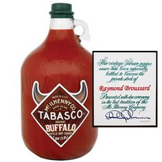 TABASCO Personalized Gallons                                                                            , Buffalo Style