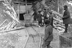 Prisoners mine gold at Kolyma, the most notorious Gulag camp in extreme northeastern Siberia. From 1934 documentary film, Kolyma. Courtsey of Central Russian State Film and Photo Archive.