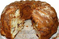 Яблочно-медовая шарлотка в форме для кексов