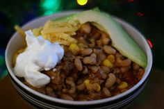Black Eyed Pea Chili in the Slow Cooker -- this delicious chili will bring luck and prosperity in the New Year!