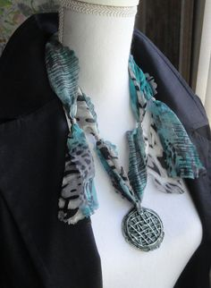 GREEN NET Made from Real Porcelain by EuropeanStyleJewelry