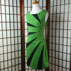 """Shop Women's Farinelli Green Black size M Dresses at a discounted price at Poshmark. Description: Pre-owned gently worn  FARINELLI SIZE MEDIUM  Sheath Dress style Color green and black Zip back closure Unlined Made of 100% polyester but has a cotton feel  Measurements approximate  Pit to pit 18"""" Shoulder to hem 36"""" Waist 31"""" Hips 37"""". Sold by efieram13. Fast delivery, full service customer support."""