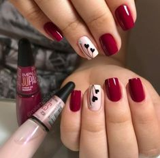 What you need to know about acrylic nails - My Nails Cute Acrylic Nails, Cute Nails, Pretty Nails, Valentine's Day Nail Designs, Acrylic Nail Designs, Trendy Nail Art, Stylish Nails, Burgundy Nails, Red Nails