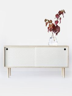 Sideboard White Pegboard, Living Room Storage, White Texture, Unique Lamps, Cabinet Makers, Love Home, House Colors, Sideboard, Living Room Designs
