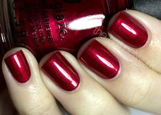 Fantastic bold color for the holidays: Cranberry Splash by CHINA GLAZE