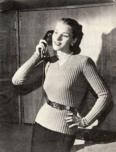 The   Vintage   Pattern   Files: 1940's Knitting - A New Torso Look Sweater