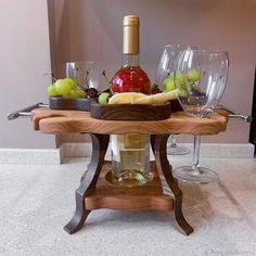 Wine Caddy, Cnc Projects, Wooden Gifts, Ideas Para, House Plans, Picnic, Household, Dining Room, Restaurant