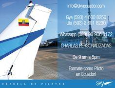 Saludos,  Recuerda que no necesitas esperar una charla para poder obtener información.  Visitanos en Guayaquil o Quito (no necesitas tener cita) info@skyecuador.com o (0969063172 solo WhatsApp ) www.skyecuador.com 04 600 8250