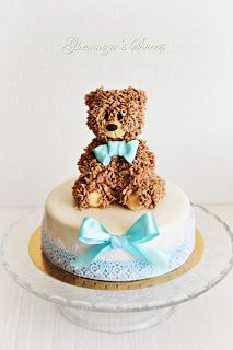 Ghemutza's Sweets: Tort Teddy Bear Cake Decorations, Birthday Cake, Teddy Bear, Sweets, Cakes, Desserts, Food, Tailgate Desserts, Deserts