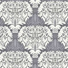 Rendezvous Damask in Gray
