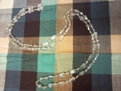 Authentic art deco hand knotted crystal glass beaded flapper necklace 100g