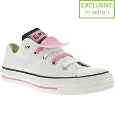 Women's White & Navy Converse As Double Tongue Ox Ii at Schuh