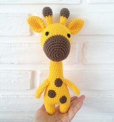 Free Crochet Patterns Yellow giraffe - Free Amigurumi animals patterns in our new app Crochet Giraffe Pattern, Crochet Penguin, Crochet Sheep, Crochet Amigurumi Free Patterns, Crochet Animals, Crochet Dolls, Amigurumi Giraffe, Giraffe Toy, Amigurumi Doll