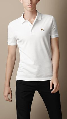 Cotton Jersey Double Dyed Polo Shirt | Burberry