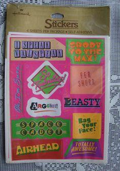 RARE Vintage1983 PHRASES 1980s Slang Hallmark Stickers MINT NIP Scrapbooking!!! #Hallmark1983 #SelfAdhesiveMINTNewinPackageSealed