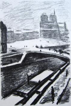Albert Marquet Barges onthe Seine Lithograph (with Idbury Prints) Paris, Online Gallery, Tower Bridge, Impressionism, Fine Art Prints, Places To Visit, Wordpress, Travel, Fauvism