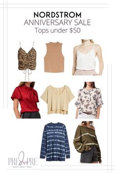 Great finds at the Nordstrom Anniversary Sale. I've rounded up my top picks in tops under $50. Hot Summer Outfits, Warm Weather Outfits, Nordstrom Anniversary Sale, Weekend Wear, Spring Trends, Get Dressed, Outfit Of The Day, Winter Fashion, Clothes For Women