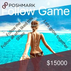 Follow game!!! Check back often:) Follow me. Follow all who liked this listing. Share. Let's grow together! Other