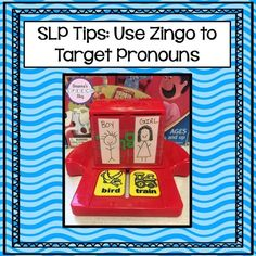 Love this use of Zingo to target pronouns in Speech Therapy!