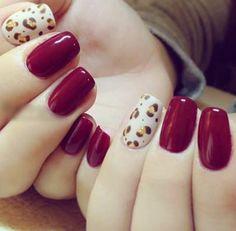 nail polish, nail paint, red, animal print, love, gorgeous