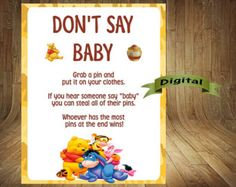 Winnie the Pooh Baby Shower Games Winnie the by DigitalDelites