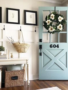 70 Beautiful Farmhouse Front Door Design Ideas And Decor. If you are looking for 70 Beautiful Farmhouse Front Door Design Ideas And Decor, You come to the right place. Here are the 70 Beautiful Farmho. Home Design, Interior Design, Interior Door Colors, Exterior House Colors, Diy Interior, Interior Doors, Design Design, Passion Deco, Front Door Design