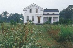 Circa 1847 Greek Revival Farmhouse. Featured in American Farmhouses. Classic White Farm House.