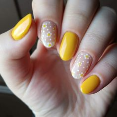 28 Nails That Are Seriously Amazing for 2019 23 Great Yellow Nail Art Designs 2019 1 Acrylic Nails Yellow, Yellow Nail Art, Cute Acrylic Nails, Cute Nails, Pretty Nails, Gel Nails, Coffin Nails, Milky Nails, Yellow Nails Design