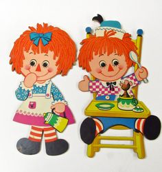 Raggedy Ann and Andy Vintage Wall Hangings by MidniteGalaxyVintage #1970s #vintage #vintagehome