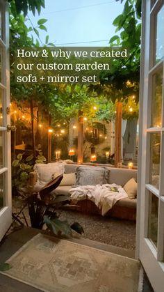 Patio Interior, Home Interior Design, Dream Home Design, House Design, Outdoor Patio Designs, Patio Ideas, Narrow Backyard Ideas, Small Outdoor Patios, Small Patio