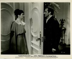 Kay Francis Basil Rathbone in Confession 1937