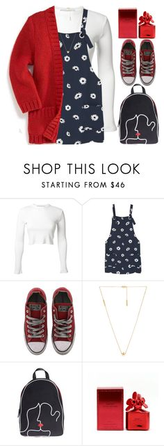 """""""Daisy"""" by grozdana-v ❤ liked on Polyvore featuring Rosetta Getty, MANGO, Converse, Marc Jacobs and Lulu Guinness"""