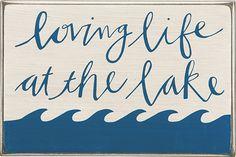 Item # 24108 | Box Sign - Loving Life | Primitives by Kathy