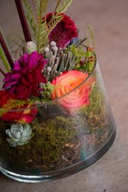 Cool arrangements. Woodsy, good for ceremony?
