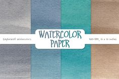 Winter Evening Watercolor Paper