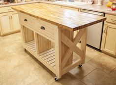 Gorgeous DIY Butcher Block Island