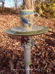 A personal favorite from my Etsy shop https://www.etsy.com/listing/256007826/bird-bath-bird-feeder-garden-totem