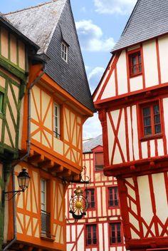 Maisons médiévales à Vannes  medieval houses in Vannes, France