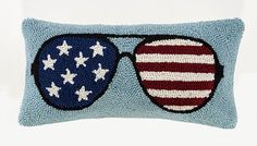 USA Flag Sunglasses Pillow