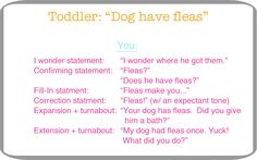 Expanding language with your toddler.