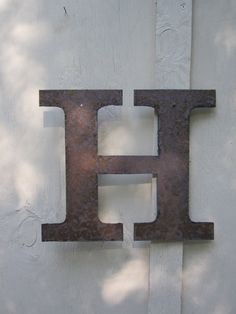 Metal letter H or any letter AZ by theshack on Etsy, $20.00